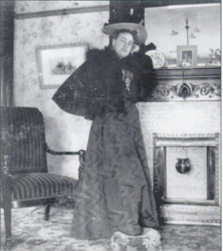 Ada Durham, also posing in this home