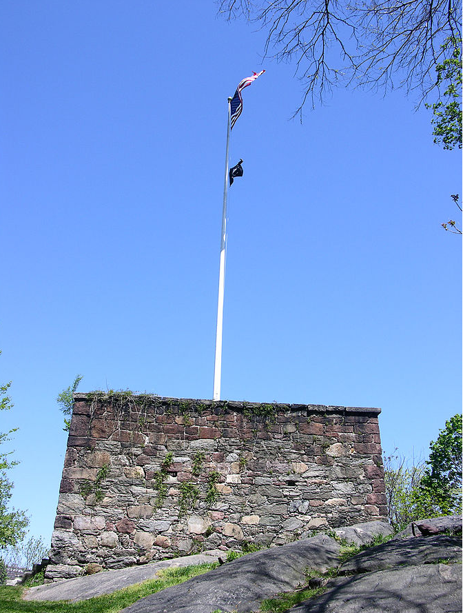 Military Blockhouse, part of New York City fortifications system during the British-American War of 1812.