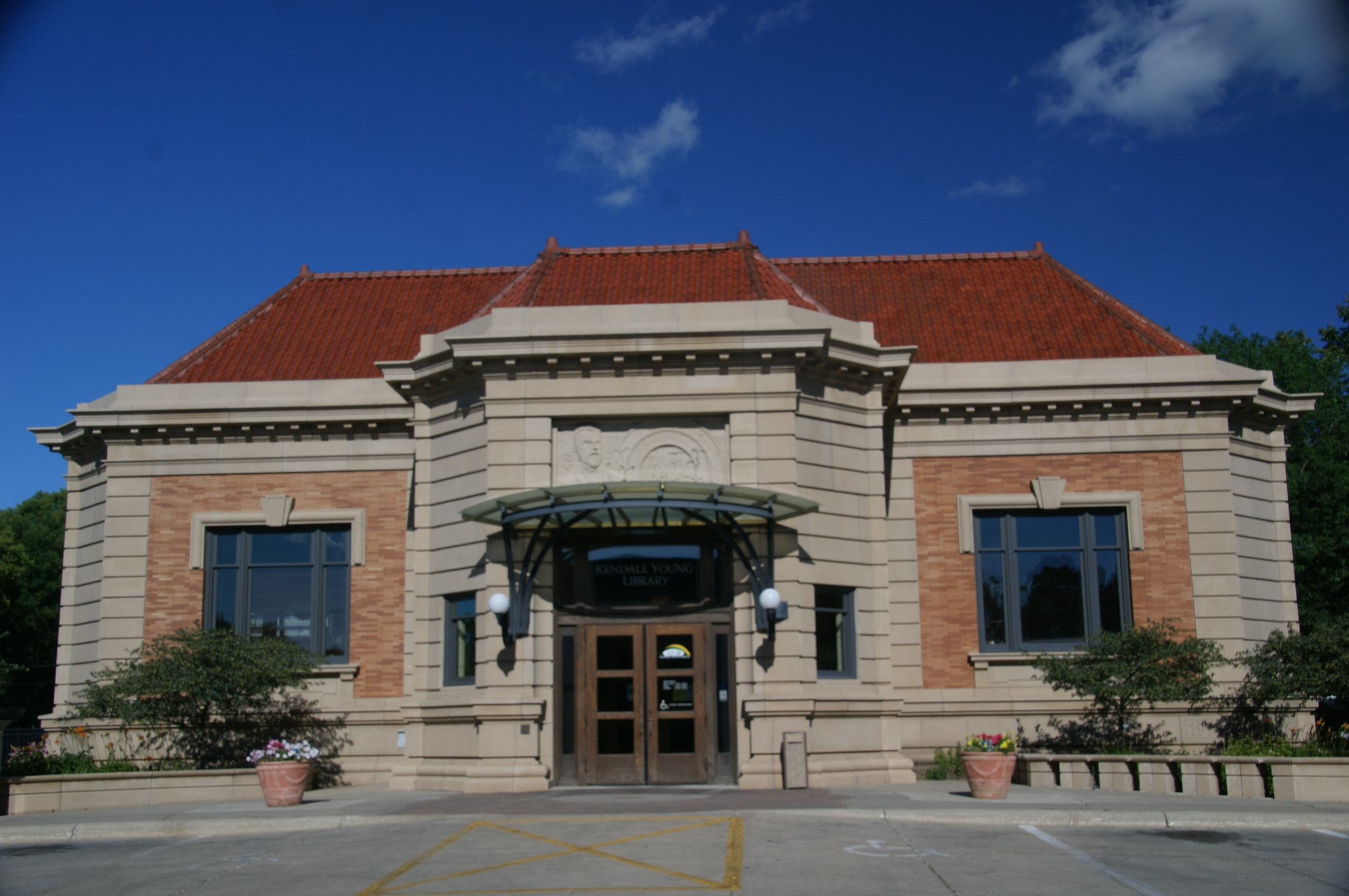 Kendall Young Library was funded by a bequest of its namesake and has been in operation since 1905.