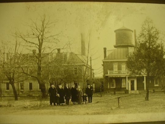The Johnson County Poor Farm is seen circa 1910.  Photo courtesy of the Johnson County Historical Society