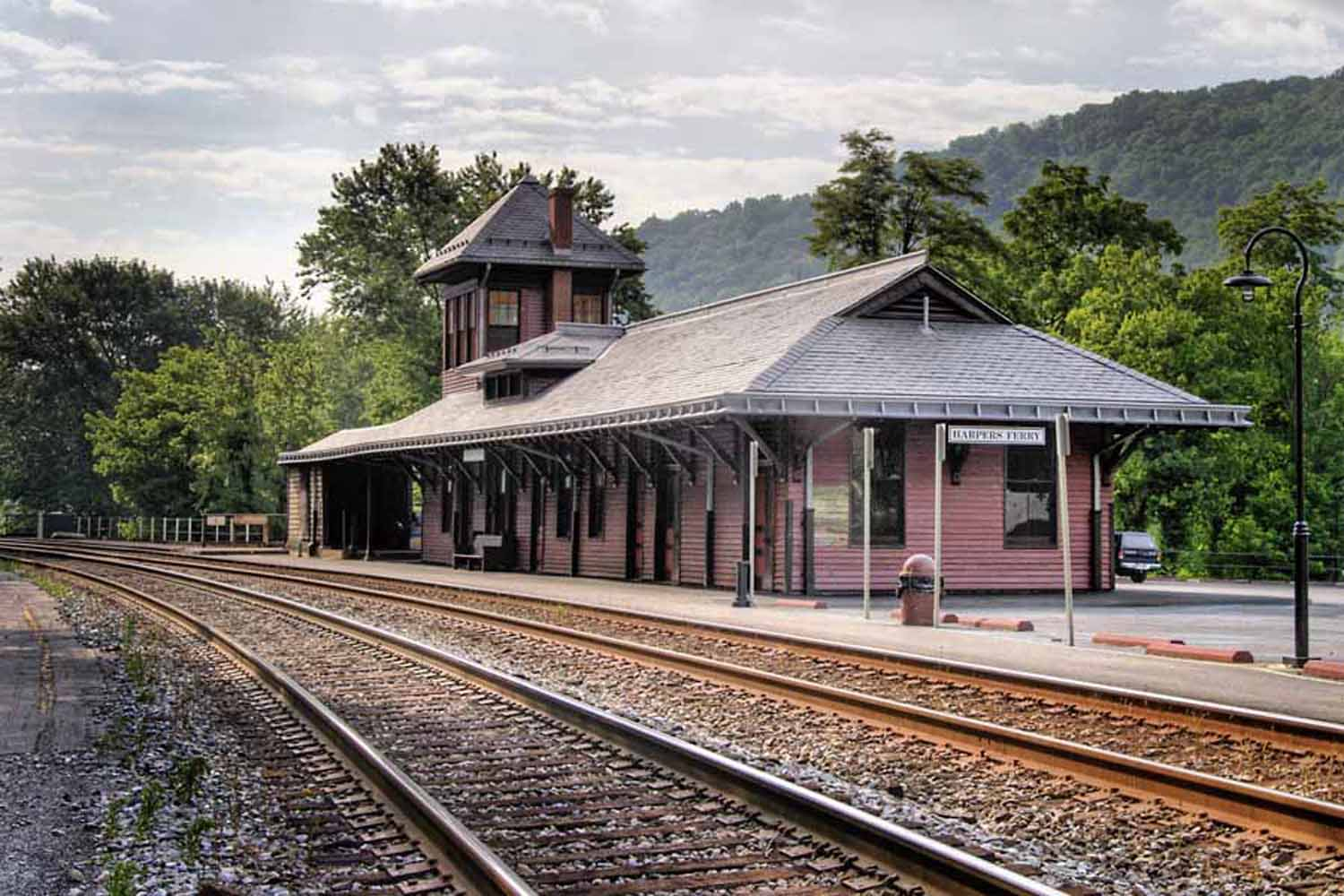 The restored train station today. Courtesy of the Harpers Ferry-Bolivar Historic Town Foundation.