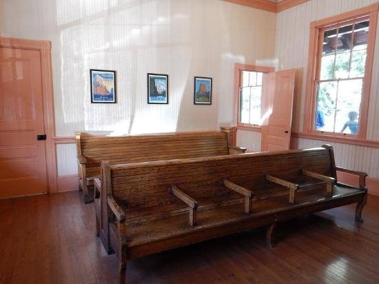 The restored waiting room of the station. Image obtained from TripAdvisor.