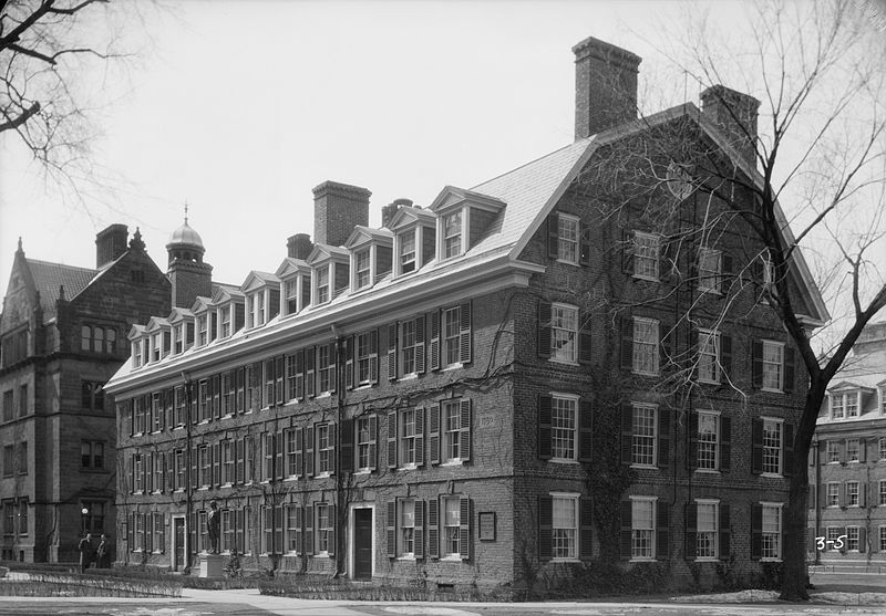 Connecticut Hall, photographed by Joseph C. Berlepsch in 1934 (source: Library of Congress)