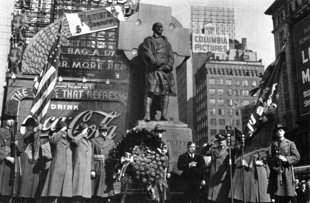 A picture of the dedication ceremony in 1937