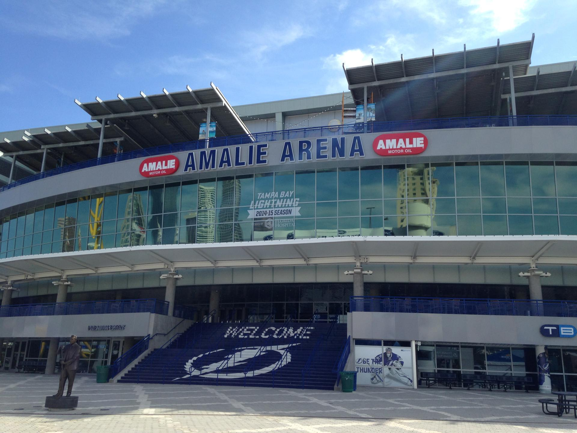 The arena opened in 1996 and is home to the NHL's Tampa Bay Lightning
