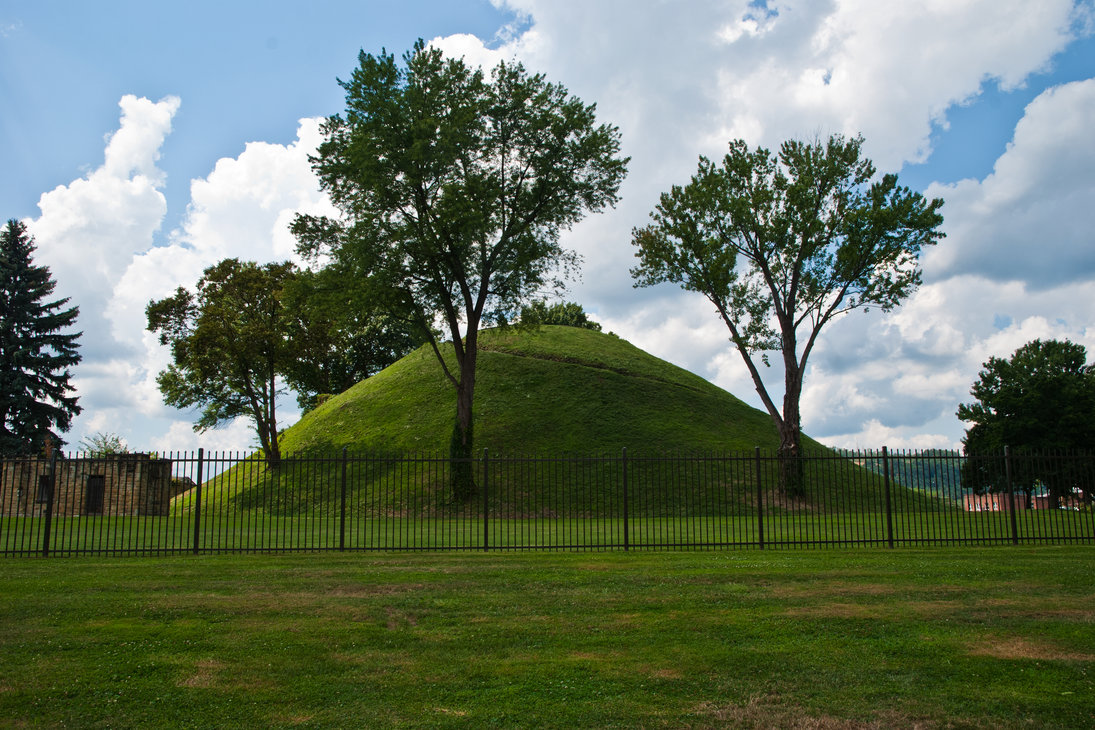 The Grave Creek Mound, Moundsville, West Virginia.
