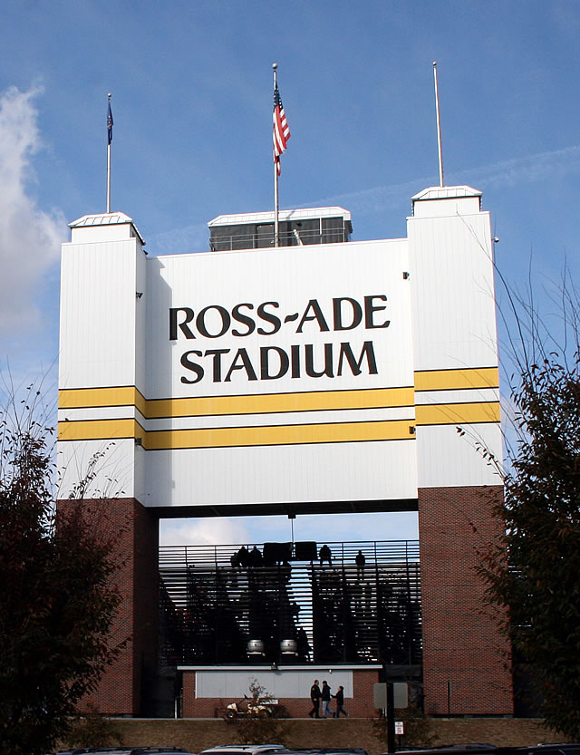 Former South End Zone entrance to Ross-Ade Stadium.