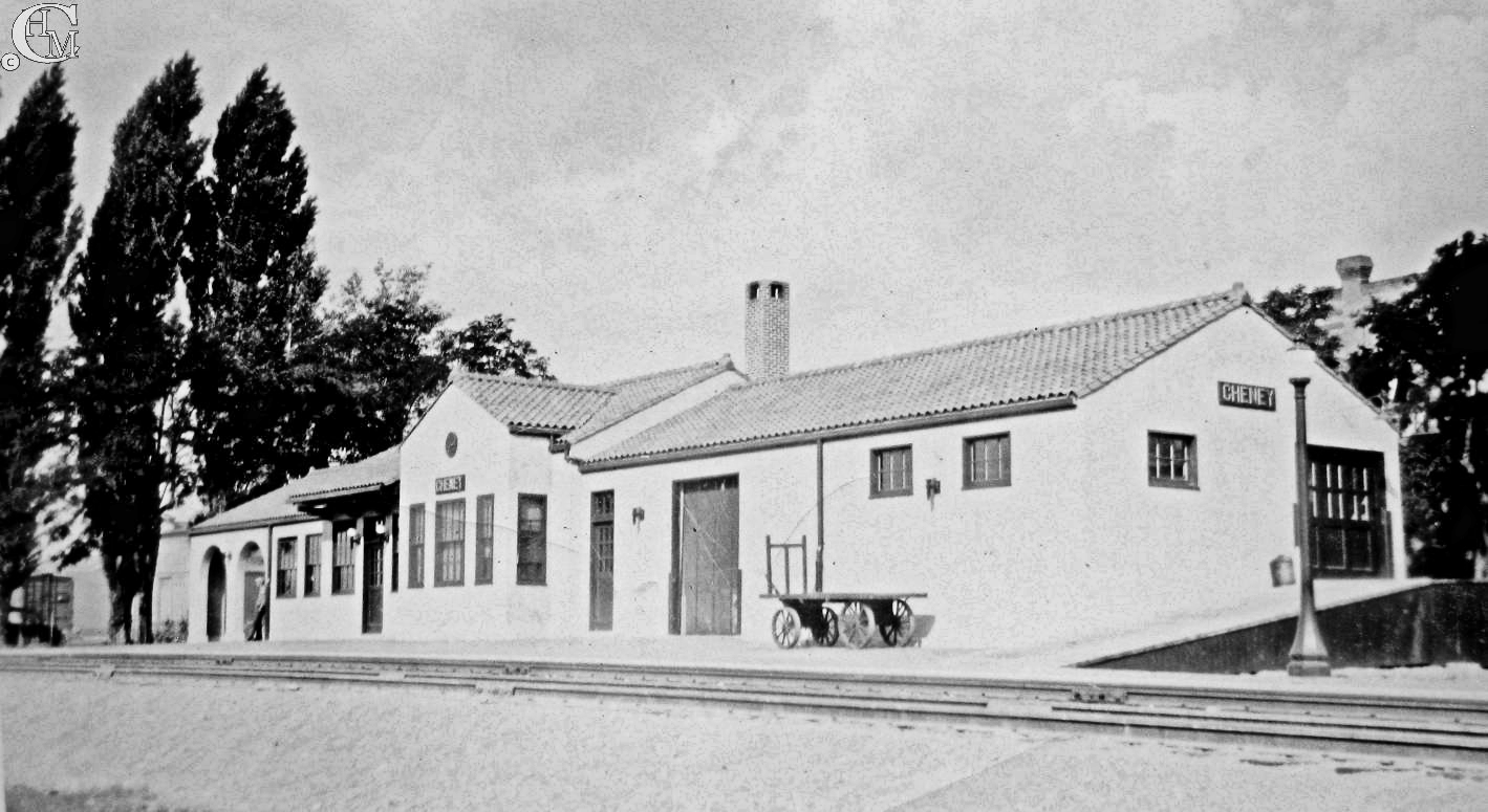 Freight end of the depot about 1930