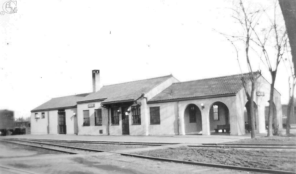 Town side view of NPRR depot about 1935