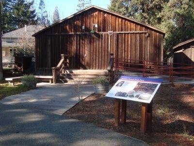 Stevens Ranch Fruit Barn at History Park (image from Historical Marker Database)