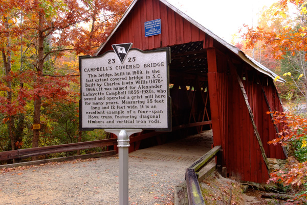 Front of bridge and marker