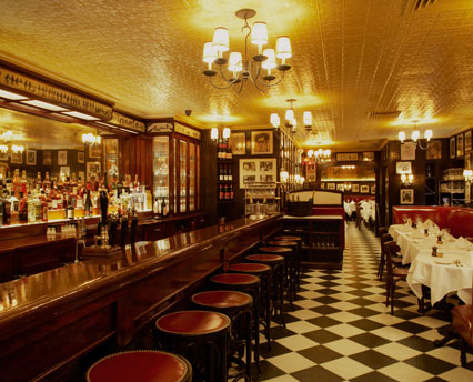 Inside the Minetta Tavern, photo featured on the restaurant's official website