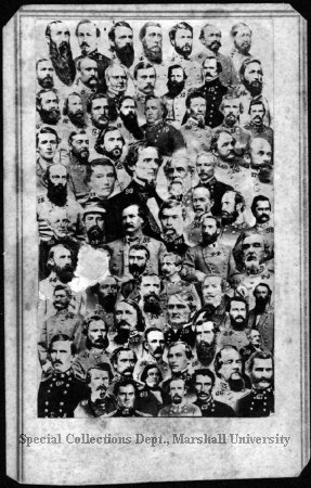 Confederate Commanders (1 of 2) 1865 Marshall University Special Collections