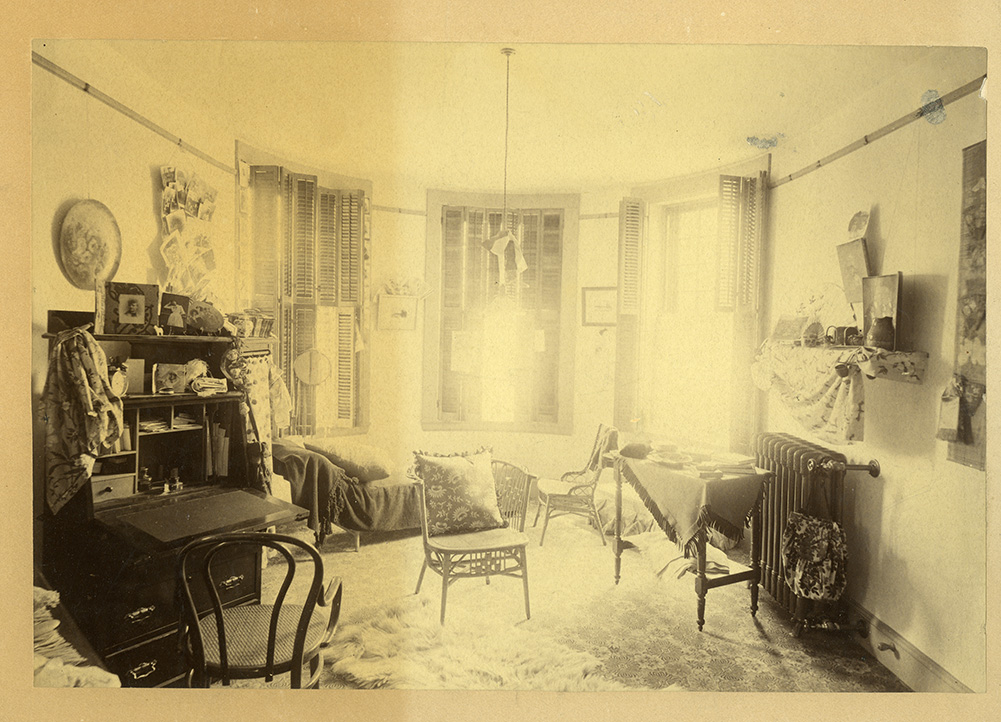 Draper Hall, room of Abbot Academy student Lena Hinchman, 1891