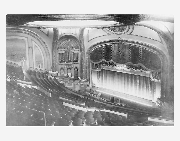 An early photo of the theatre's auditorium