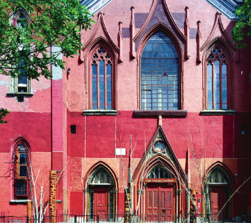 The Angel Orensanz Foundation is housed in the fourth oldest synagogue still standing in the country.