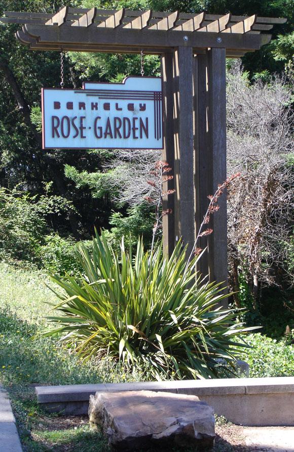 Berkeley Municipal Rose Garden sign (2010)