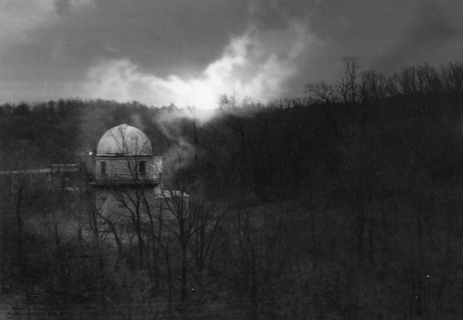 Gloomy Photo of the Charles Smith Scott Observatory.