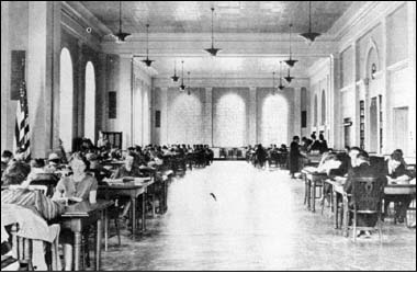 The Reading Room of Morrow Library was where students of Marshall College studied, and was split into two floors during the renovation process that began in 1965.