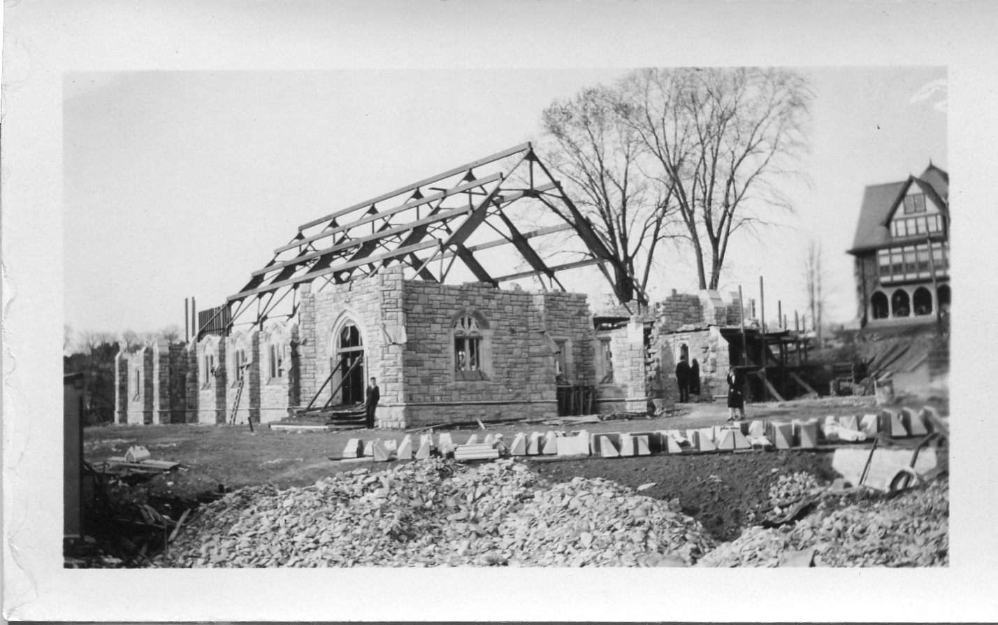 Graham Tyler Chapel under construction in 1931