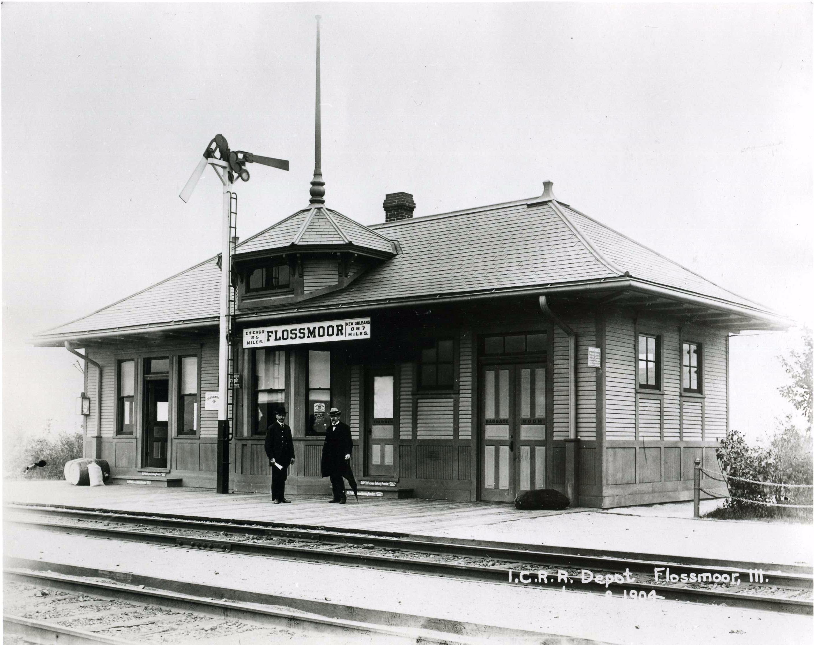 Photo Credit: Flossmoor Public Library - 1904 Photo of the station
