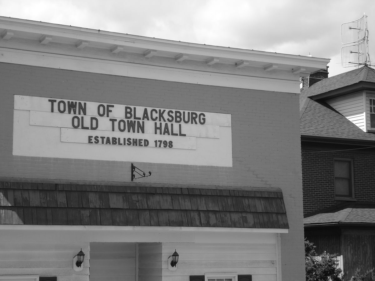 Blacksburg's Old Town Hall