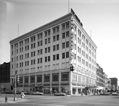 The Hecht Company store at 7th and F Street N.W. circa 1930