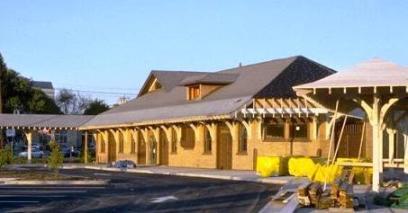 Danbury Station, renovations nearly complete, 1995 (source: Danbury Railway Museum)