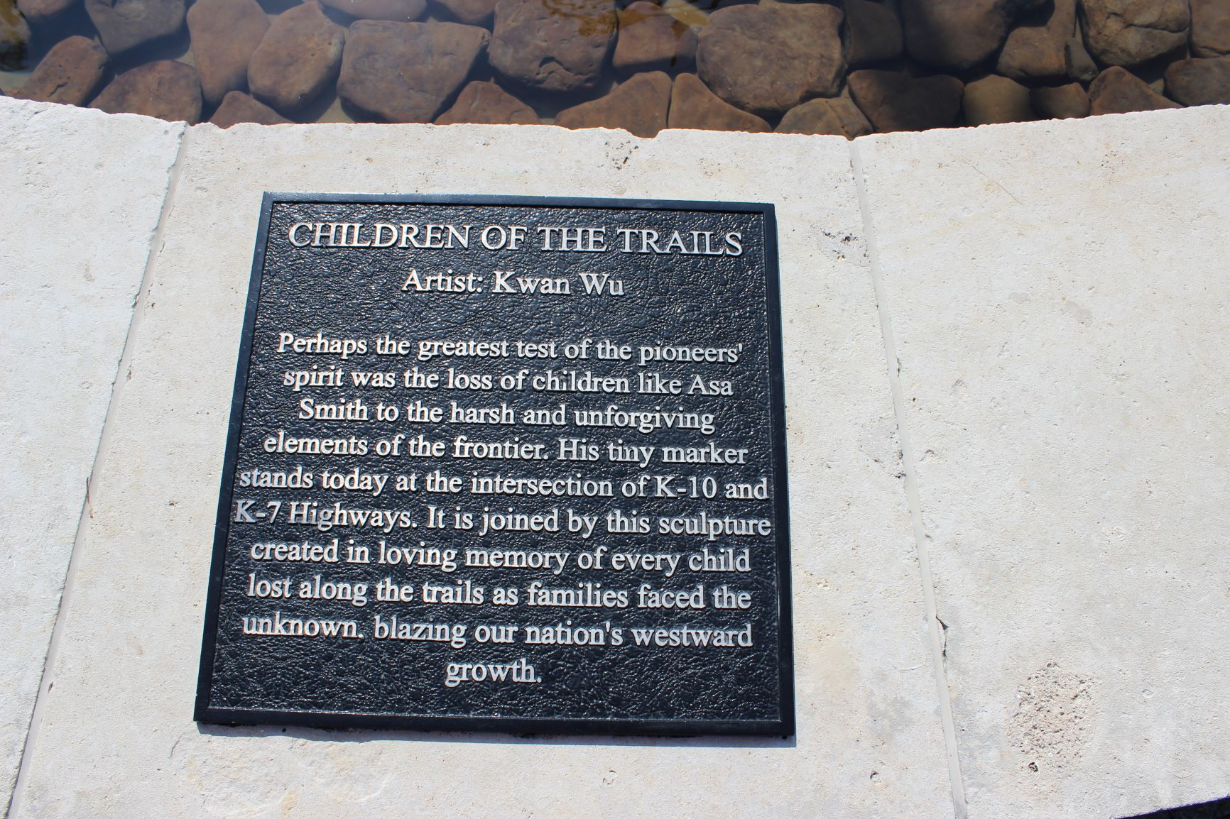 Children of the Trails plaque