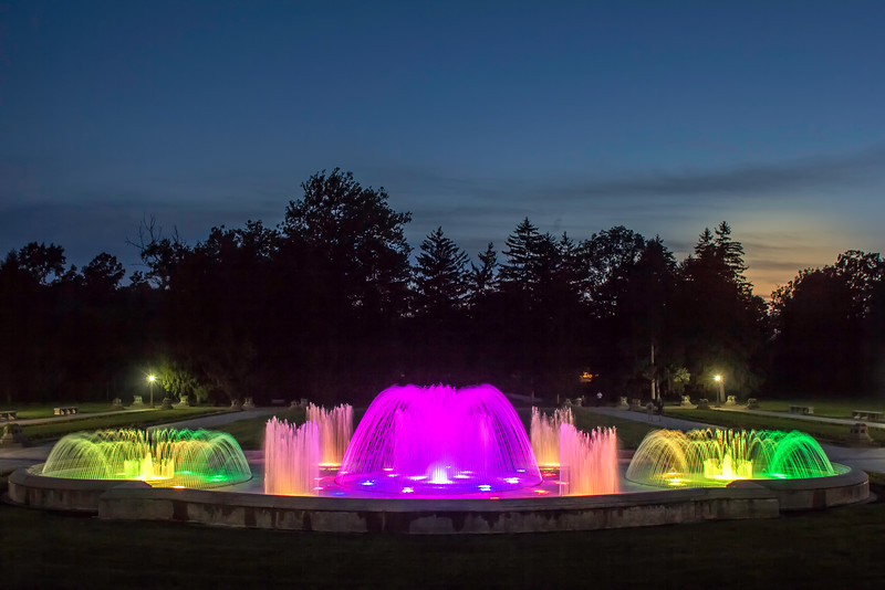 The park's famous musical fountains had LED lights installed in 2013.