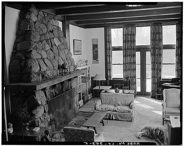 This photo of the den within the Remington House was taken by the Library of Congress' Historic American Buildings Survey.