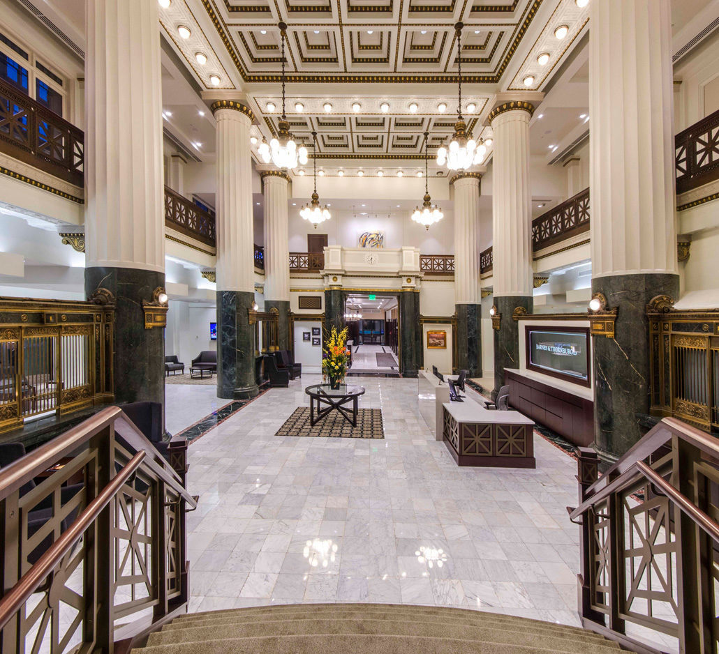 The building's main lobby was restored to its original grandeur in 2013.