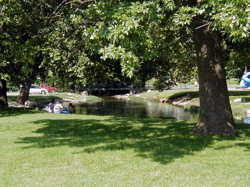 """The Old Swimming Hole"" that appears in Riley's poems is now a large and well-used park on the east side of Greenfield."
