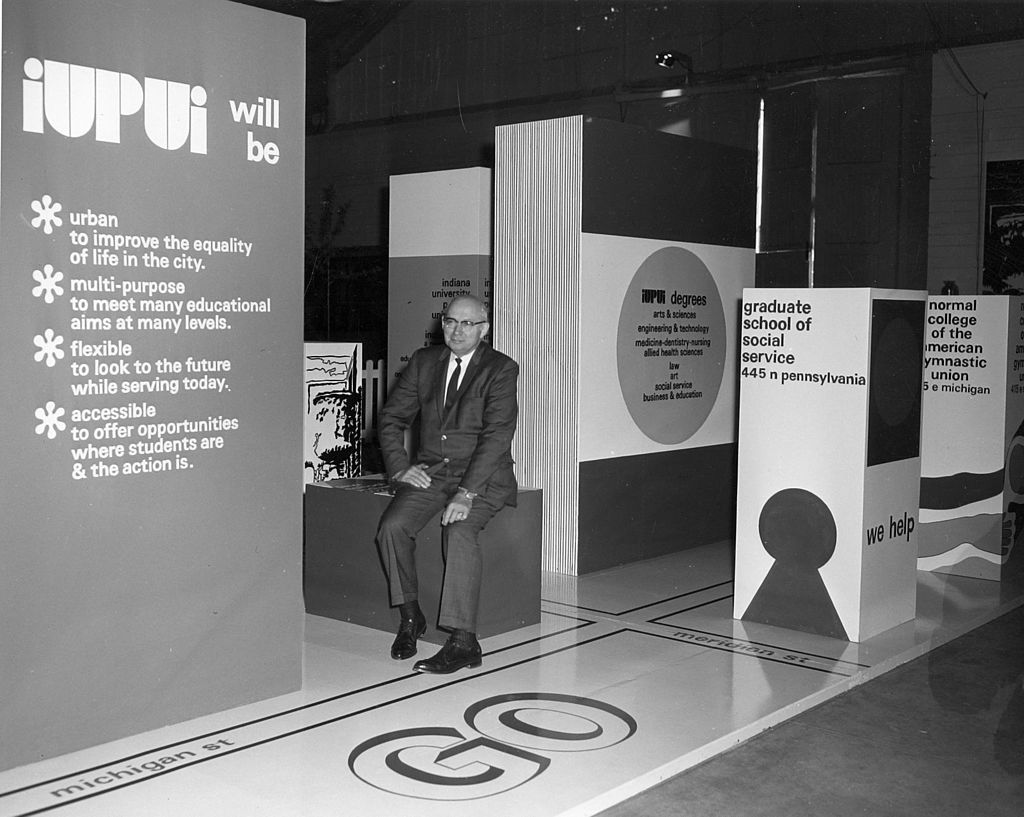 One of the early leaders of IUPUI, Maynard K. Hine.
