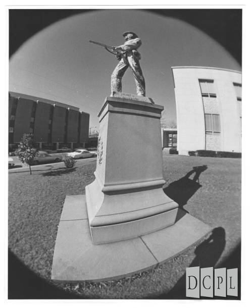 Confederate Monument with fish-eye lens 1960's