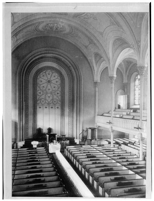Interior of the church from the Historic American Buildings Survey