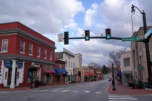 A view of downtown Blacksburg