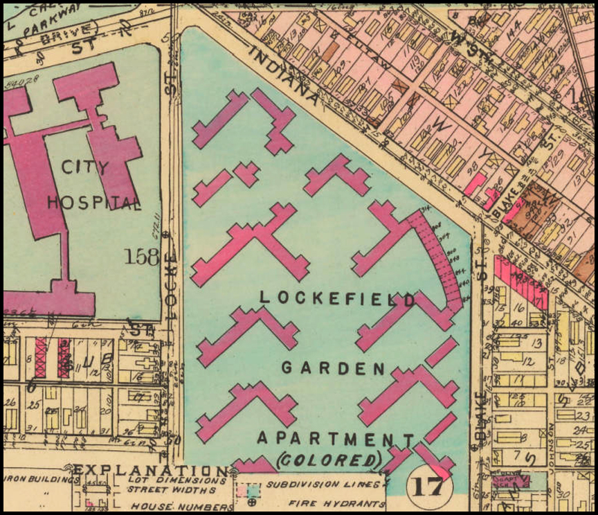 A map of Lockefield Gardens