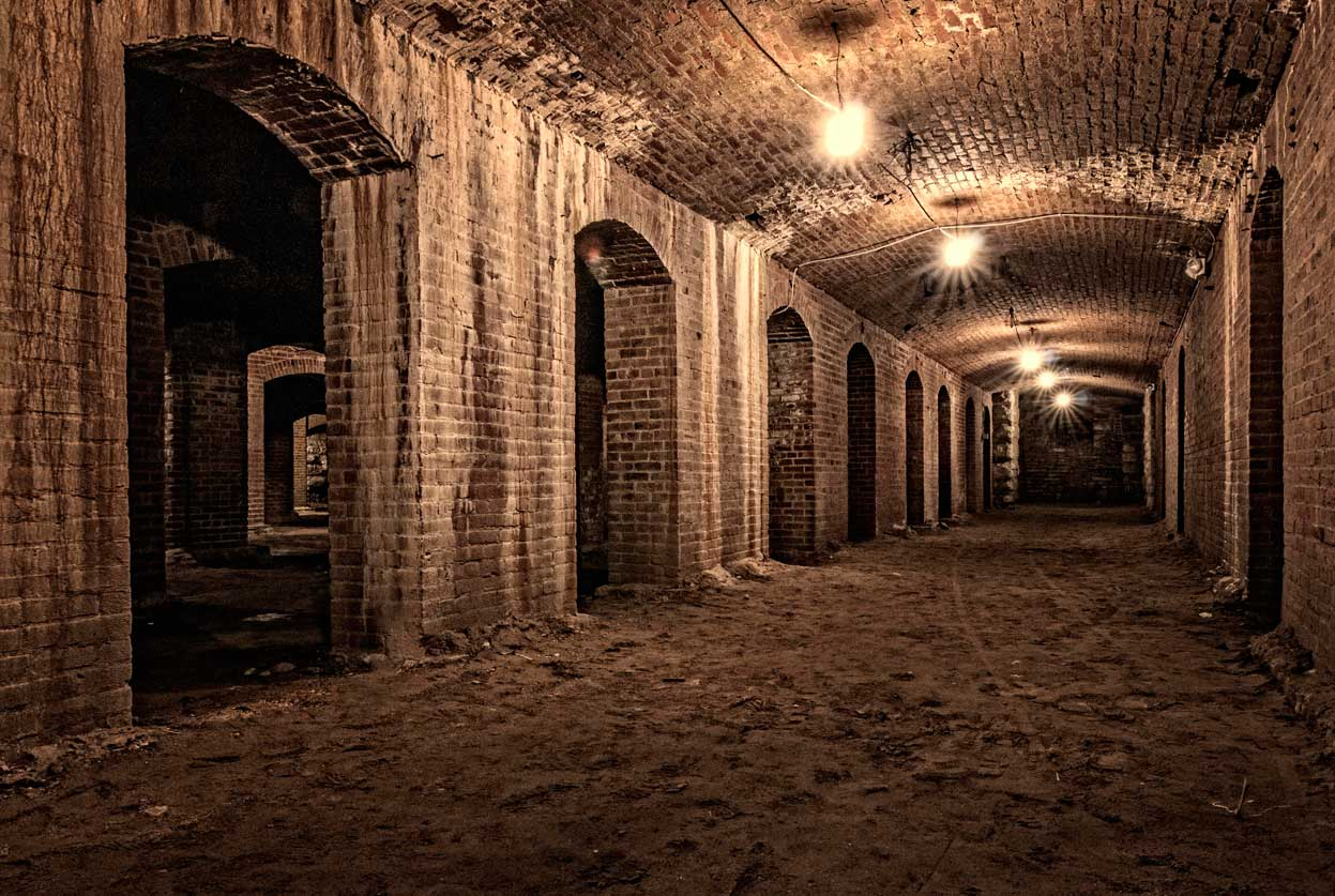 Indiana Landmarks hosts tours of the catacombs that still exist below what was once Tomlinson Hall.