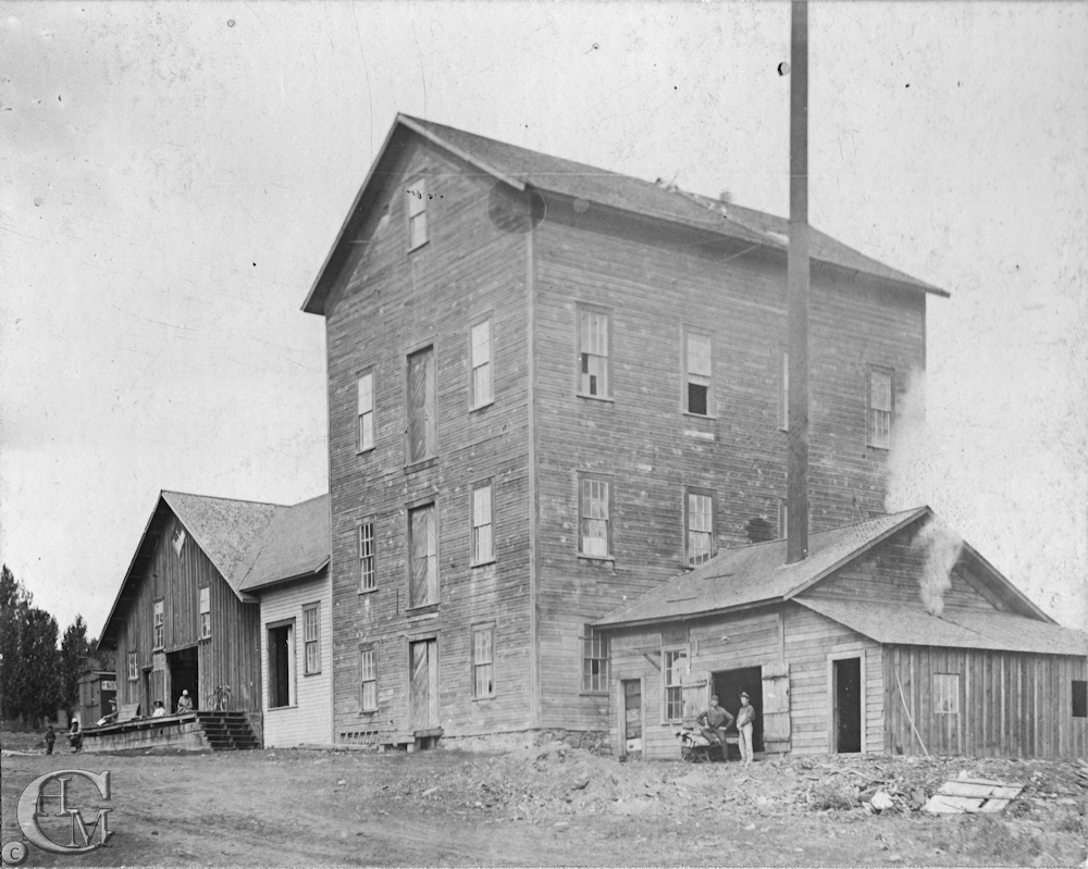 The four-story building, 36 by 48 feet with an attached 22 by 28 foot boiler and engine house.
