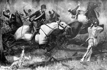 Harper's Illustrated 1896 depiction of the Battle of Fallen Timbers
