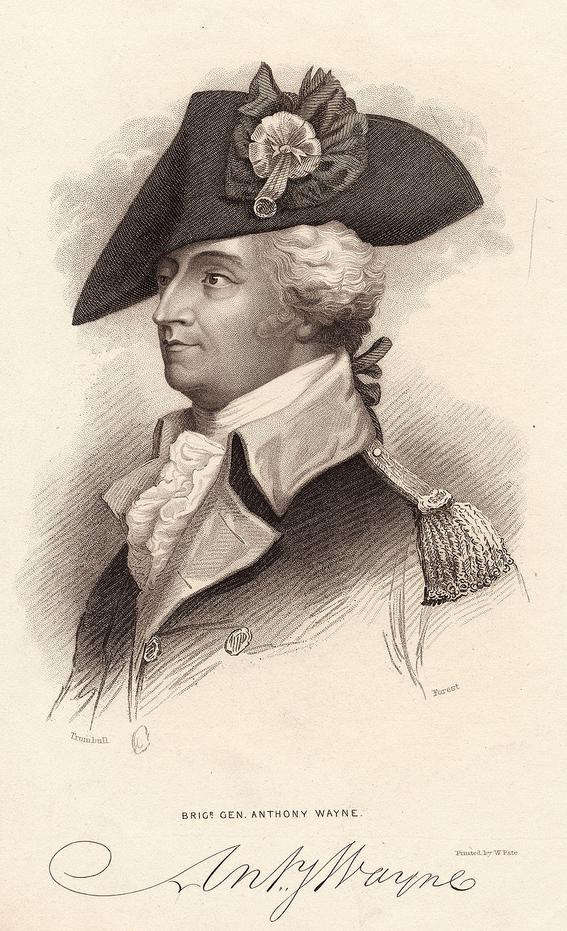 Sketch of Anthony Wayne by John Trumball