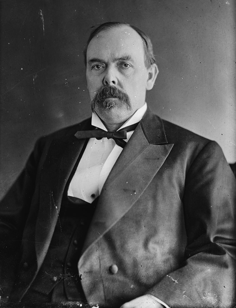 Indiana's wartime governor and camp's namesake, Oliver Morton. Courtesy of the Library of Congress Prints and Photographs Division. Brady-Handy Photograph Collection