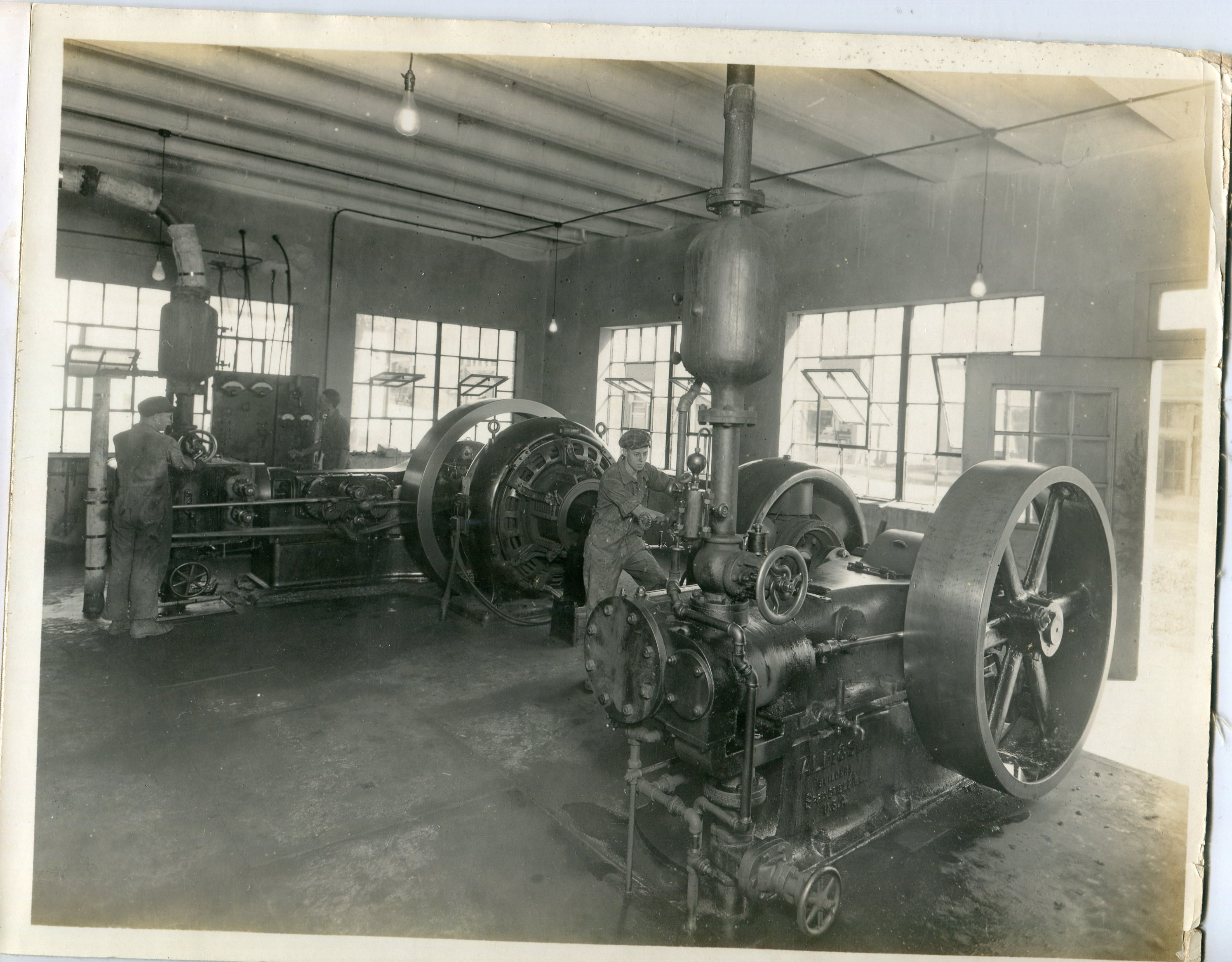 Picture of new boilers 1918.