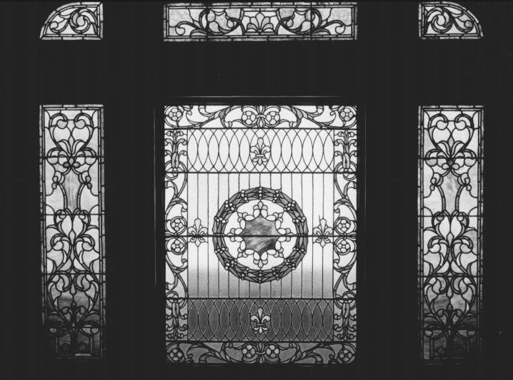 Second-floor window, photographed by T. Dean Caple (full citation below)