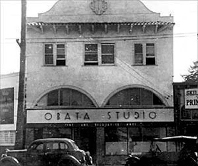 Obata Studio, c. 1930, part of a commercial building complex then called The Arcade