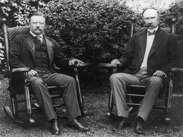 Charles Fairbanks with Teddy Roosevelt