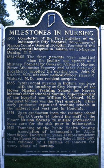 """Milestones in Nursing"" Historical Marker"