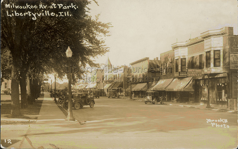 Looking north on Milwaukee Avenue from Church Street, after 1923