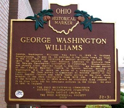 The marker was erected in 2003. Photo: William Fischer, Jr.